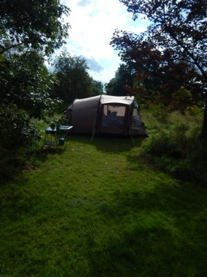 camping in the meadow