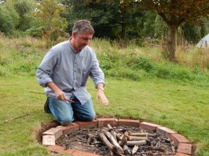 Prepparing the fire