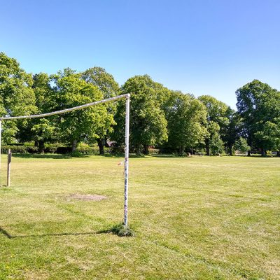 Football pitch oposite the village green