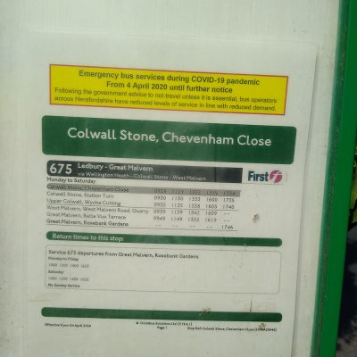 Local bus timetable (may be different when you visit so check)