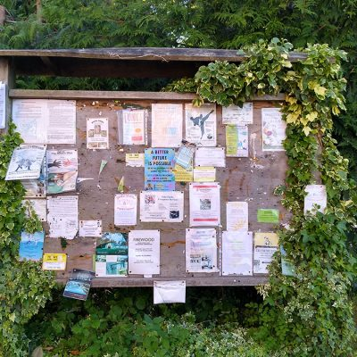 Notice board, always plenty going on in Colwall