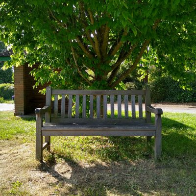 Bench at end of the village
